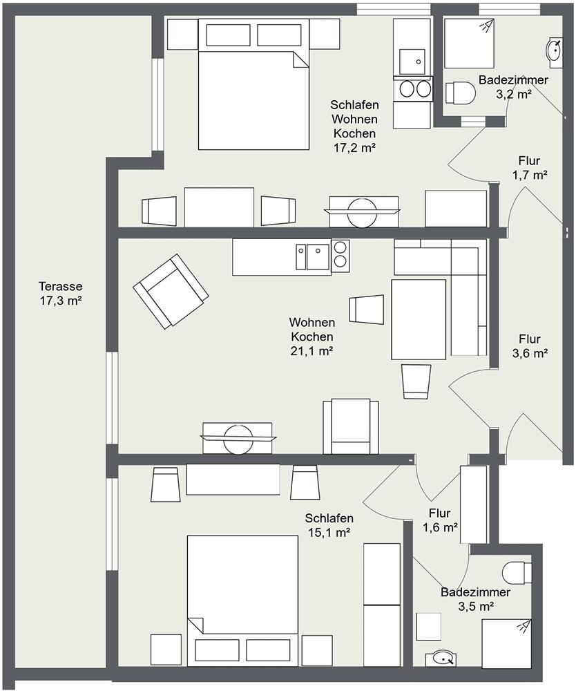 Apartment 1 Haus Matri